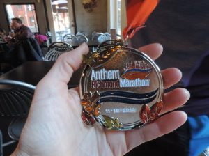 Richmond Marathon medal - 2014